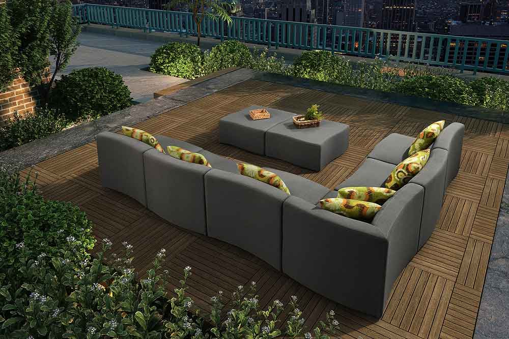 Hotel Furniture Modern Design Outdoor Sofa With chaise For Rooftop - Palma