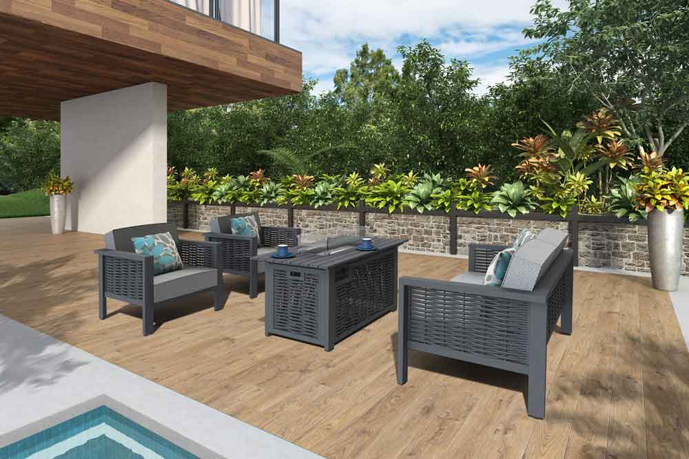 On-line Outdoor Furniture Patio Tables With Propane Propane Fireplace - Dallas